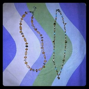 Bundle of Two Beaded Necklaces